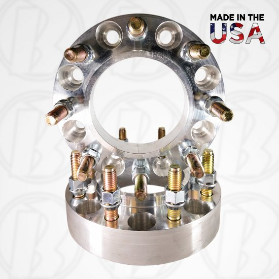"8x6.5 To 8x180 Hub Centric Wheel Adapters / 1.5"" Spacers - Click Image to Close"