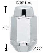 Bulge Acorn Long 12mm 1.50 R.H. Lug Nut