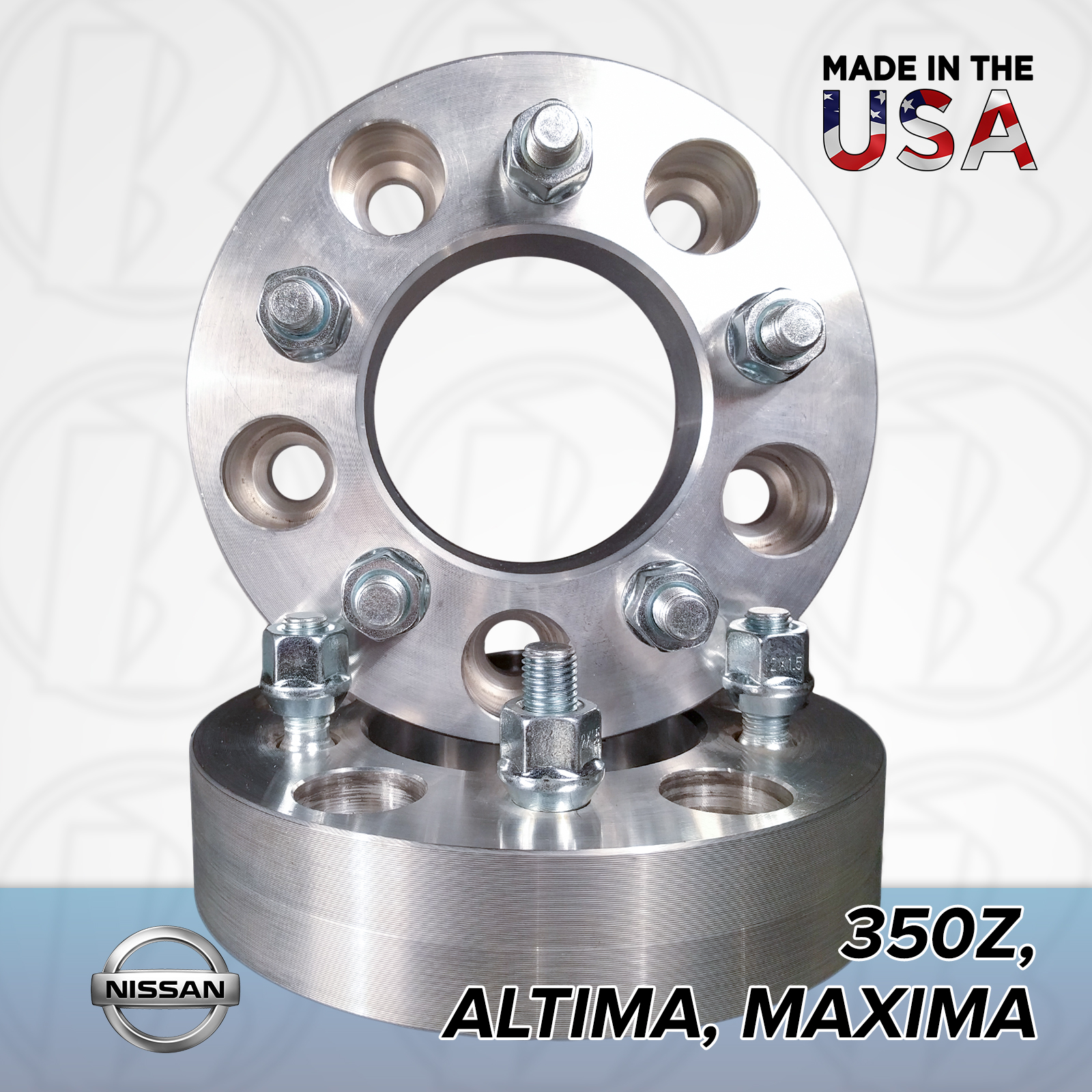 "5x4.5 Nissan To 5x4.75 Wheel Adapters / 1"" Spacers"