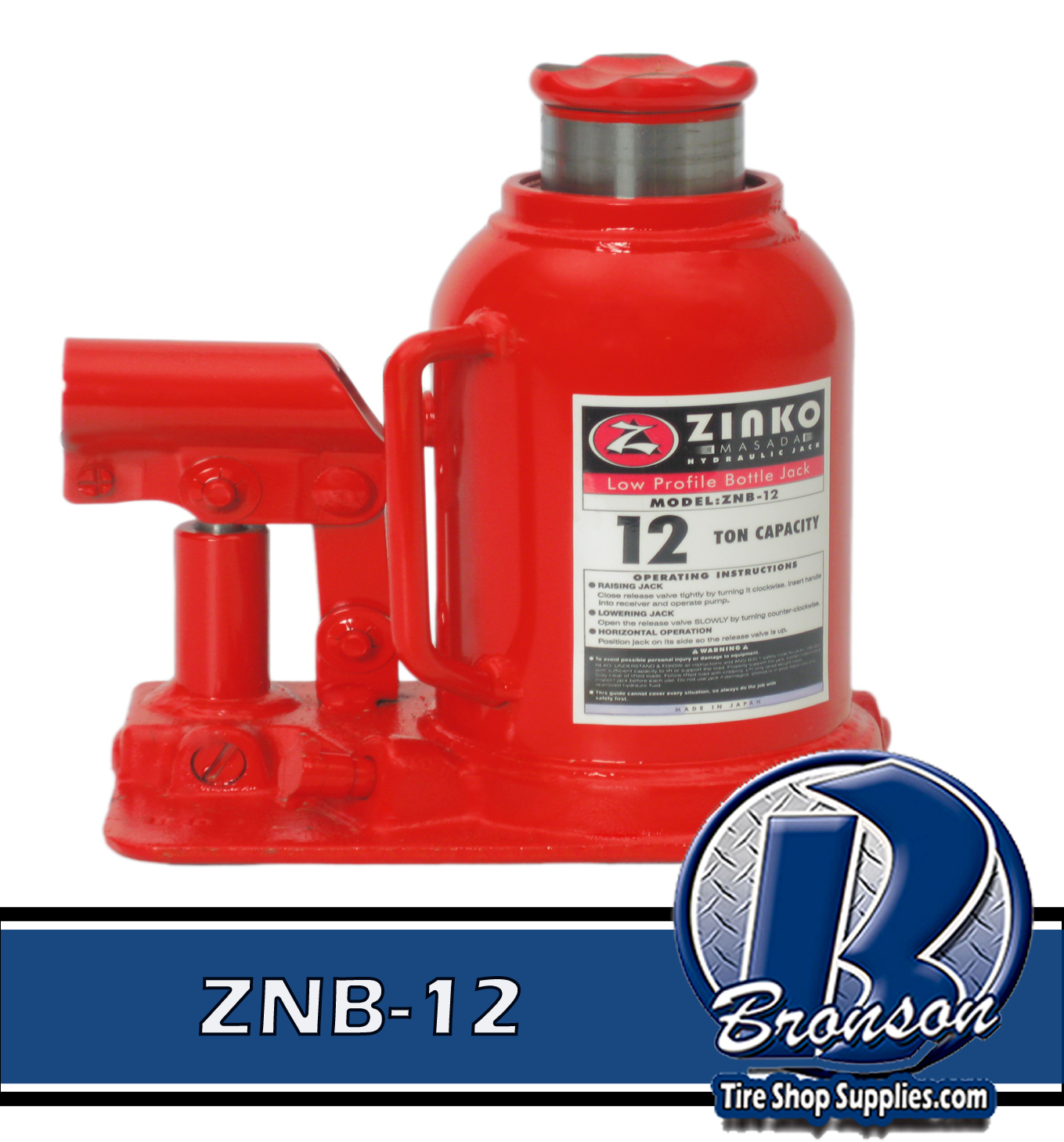 ZINKO ZNB-12 12 Ton Low Height Hydraulic Bottle Jack