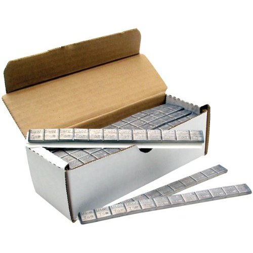 TAPE WEIGHTS Box of 48-3 oz Strips, steel 1/4 oz Increments
